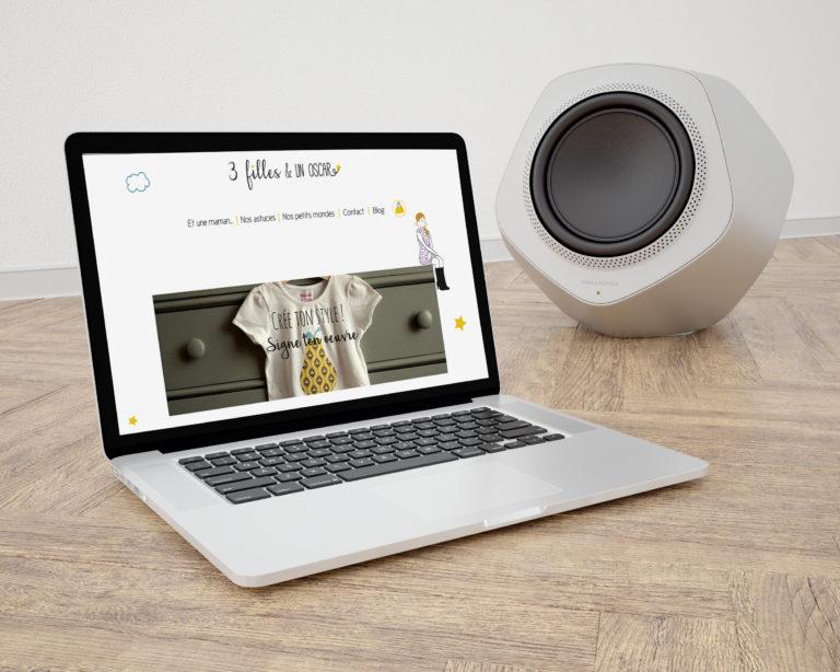 webdesign site internet 3 filles et un Oscar