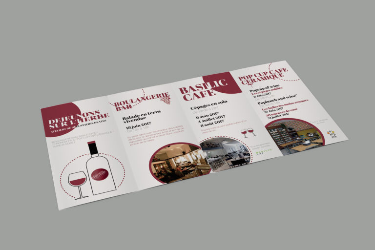 création d'une brochure sur du vin