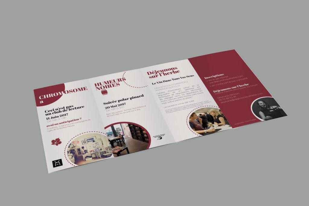 création d'une brochure sur le vin