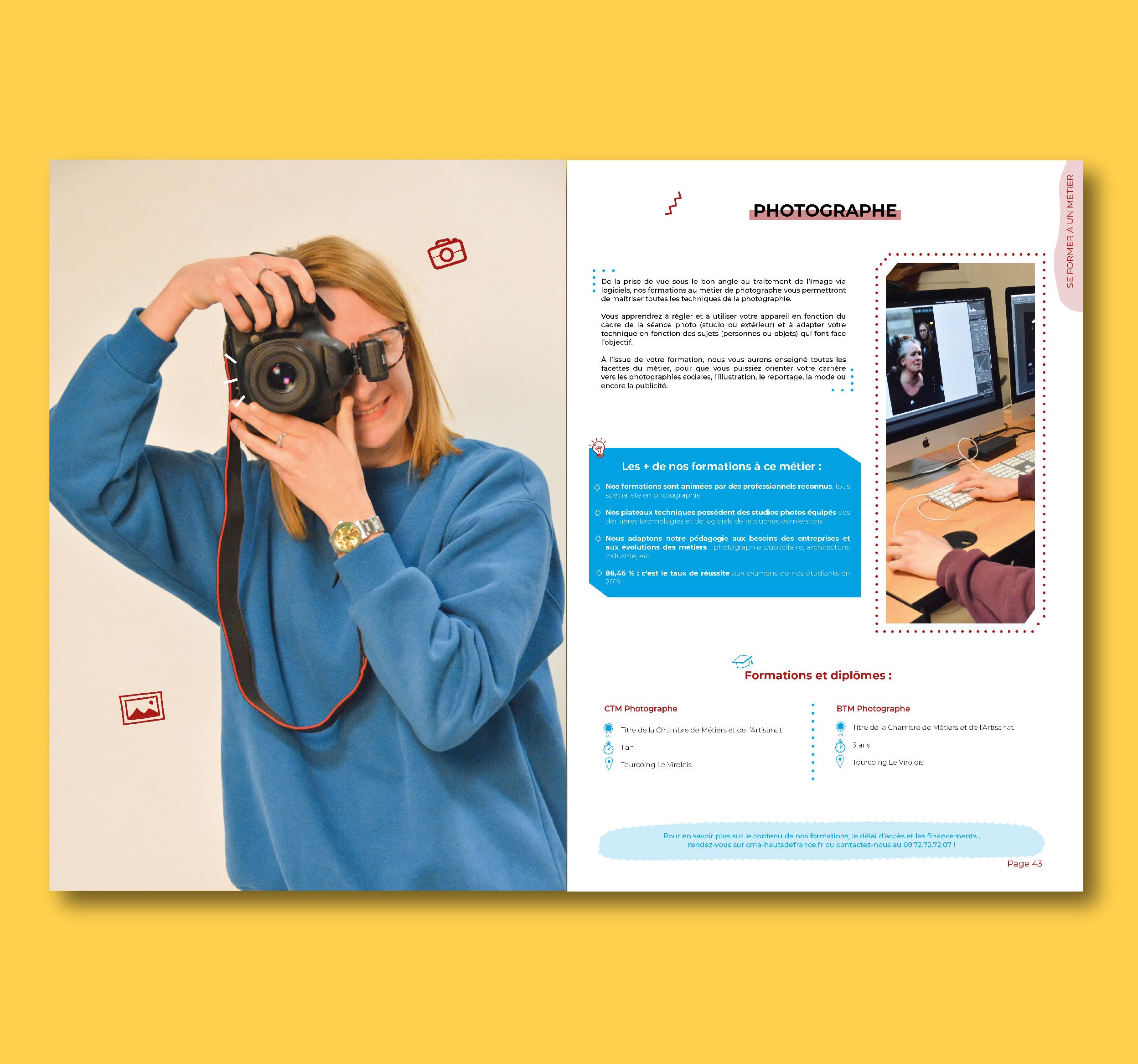 création de catalogue chambre des métiers