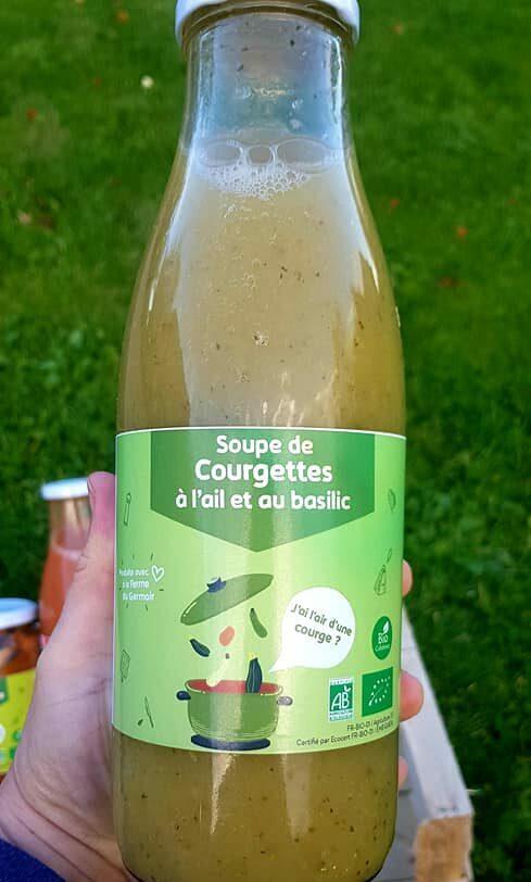 étiquettes personnalisées soupe de courgettes