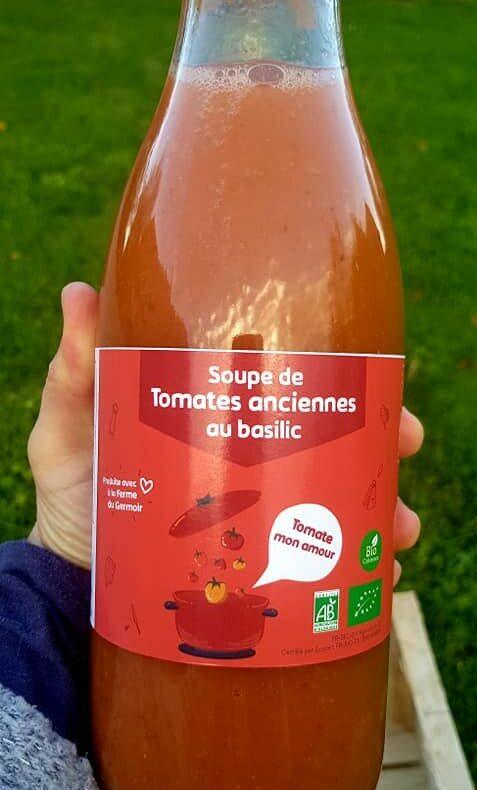 étiquettes personnalisées soupe de tomates